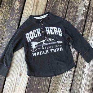 "Children's Place ""Rock Hero"" LongSleeve Henley Tee"